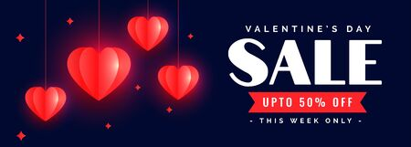 beautiful happy valentines day sale banner design