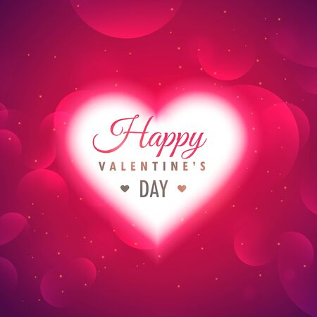 beautiful hearts background for valentines day design illustration
