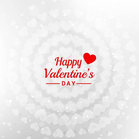 Happy red valentines day fram hearts background abstract design illustration