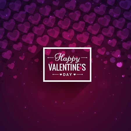 Happy valentines day hearts background abstract design illustration