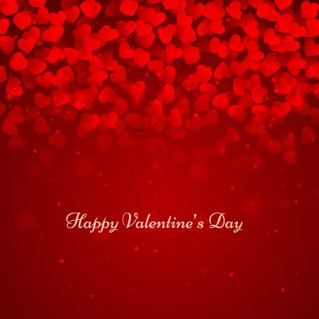 red valentines day hearts background abstract design illustration
