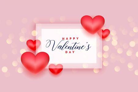 romantic happy valentines day love hearts background