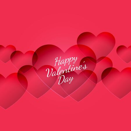 abstract Happy valentines day hearts background design illustration