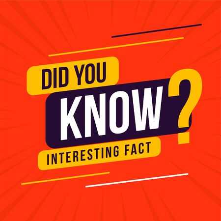 interesting fact did you know background design Illustration