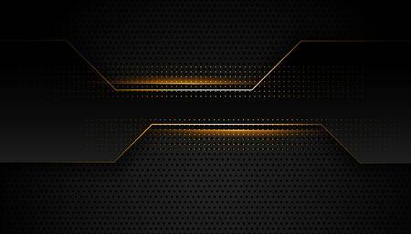 black and golden premium geometric background design Vektorgrafik