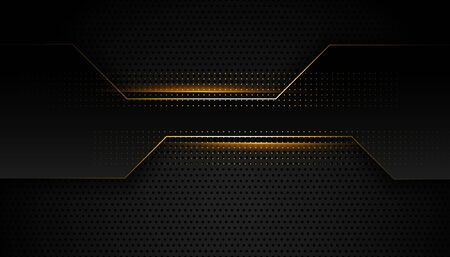 black and golden premium geometric background design Vektoros illusztráció