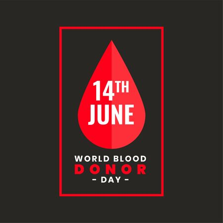 poster design for international world blood donor day Vectores