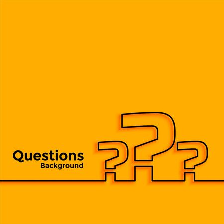 minimal line style question mark background