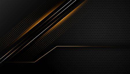 dark black background with glowing lines design Vektorgrafik