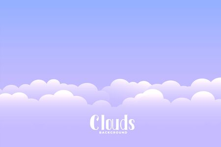 above the cloud background with text space