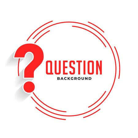 help and support question mark background in red color Illustration