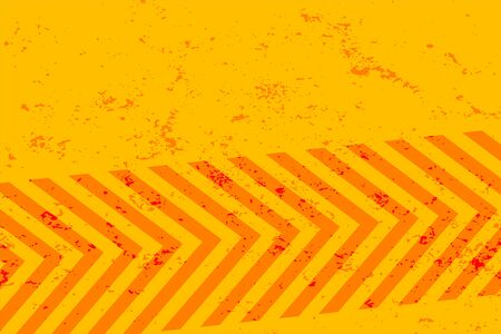 yellow grunge background with orange stripes design Ilustração