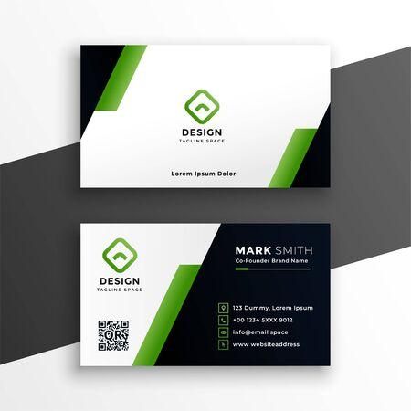 professional geometric green business card template design