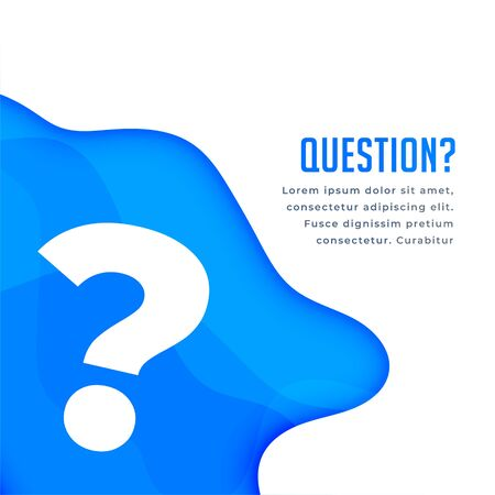 blue question web help and support background Illustration
