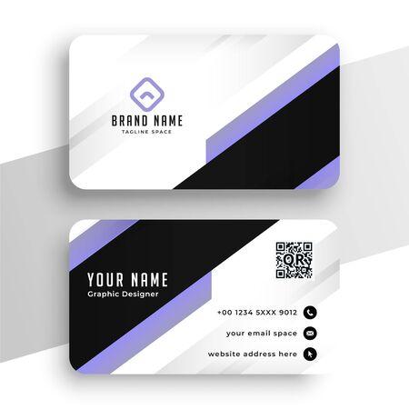 geometric purple modern business card template design