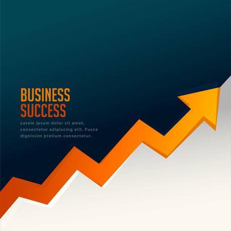 business success growth arrow with upward arrow Vektorgrafik