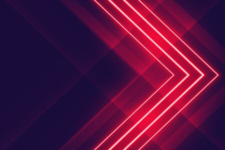 red neon glowing lights arrow style background