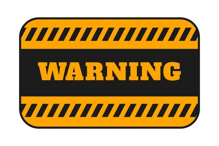 warning signage with black stripes background design Ilustração