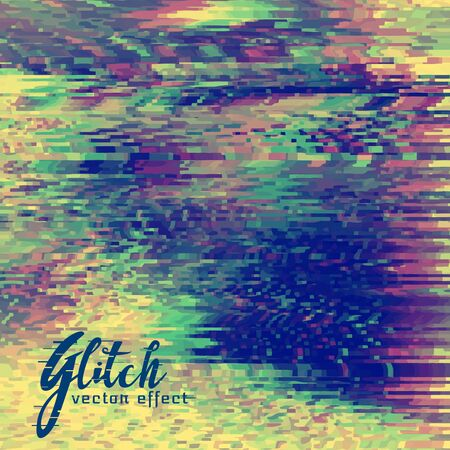 abstract vector glitch background design
