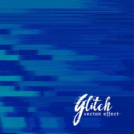 blue abstract glitch background design
