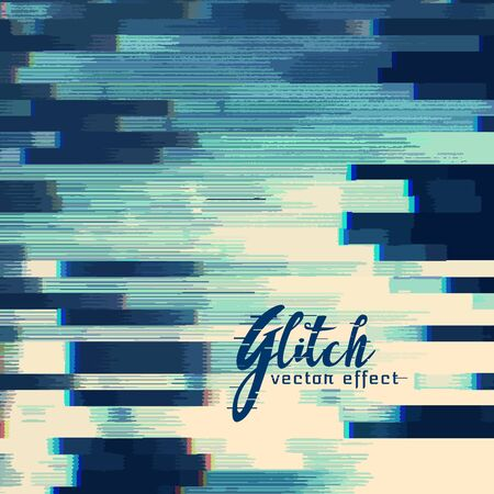 glitch abstract background in blue shade