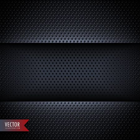carbon metal background with small holes Vettoriali