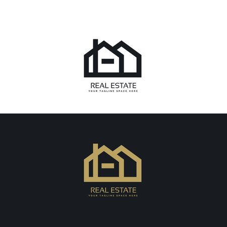clean line style real estate   design concept