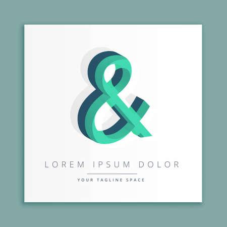 abstract concept letter &  business symbol shape design Illusztráció