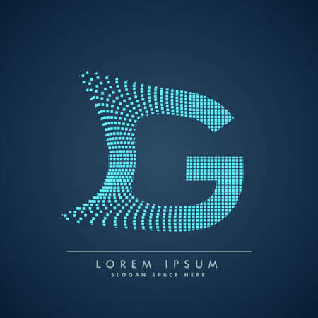 abstract concept letter G  business symbol shape design