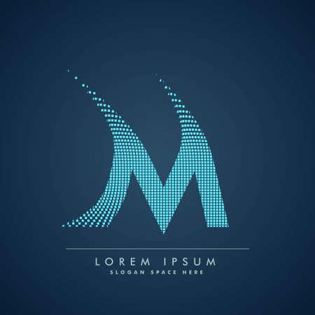 abstract concept letter M  business symbol shape design