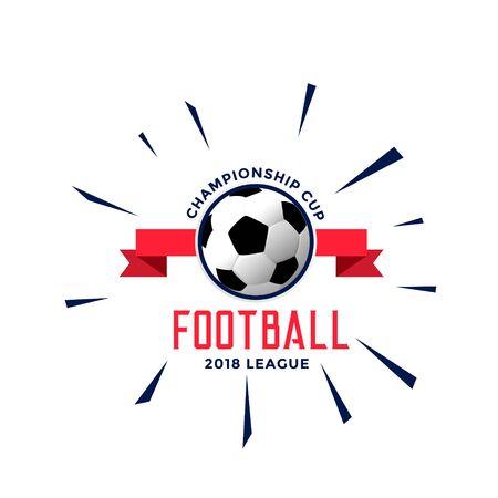 football championship   style concept design Çizim