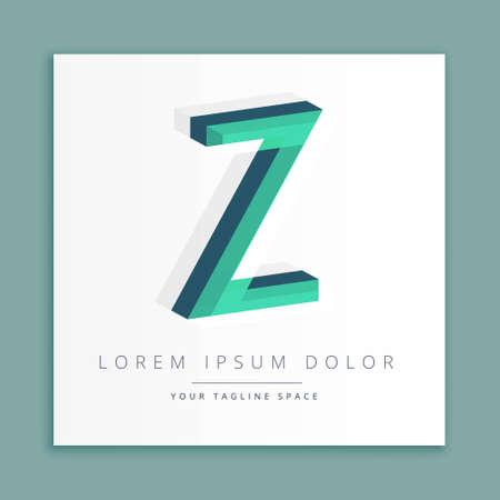 abstract concept letter Z   business symbol shape design Illusztráció