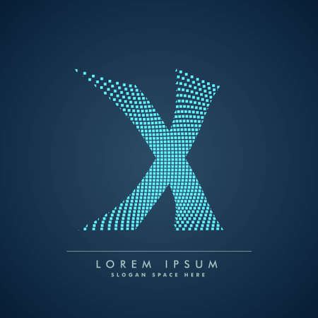 abstract concept letter X   business symbol shape design