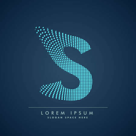 abstract concept letter S   business symbol shape design