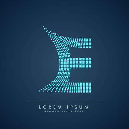 abstract concept letter E   business symbol shape design