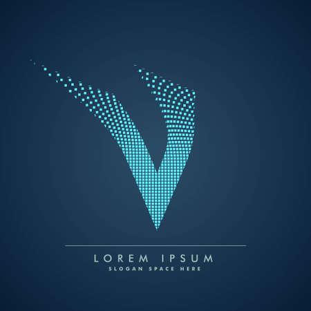 abstract concept letter V   business symbol shape design