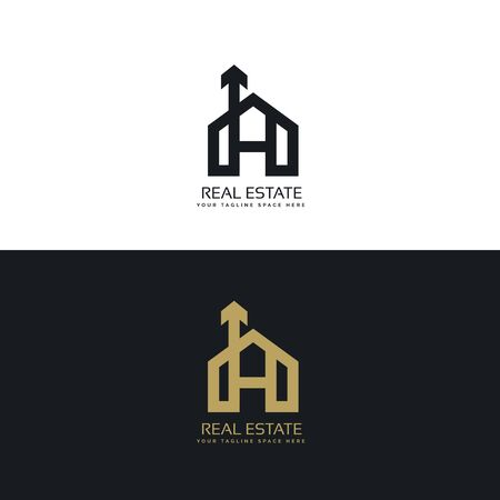clean house icon concept design with arrow symbol