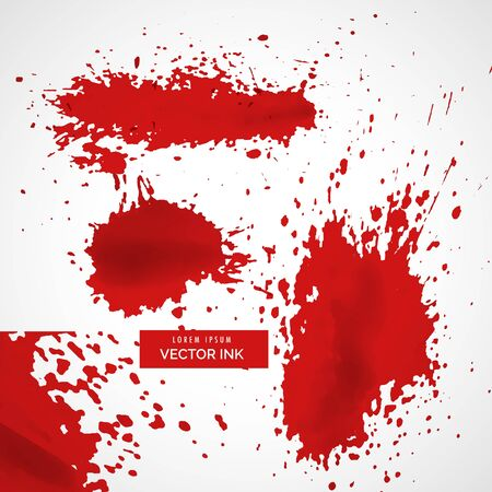 abstract red ink splatter texture background