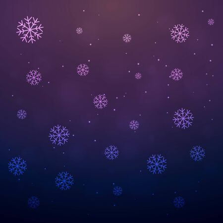 Beautiful Merry christmas greeting card with snowflakes