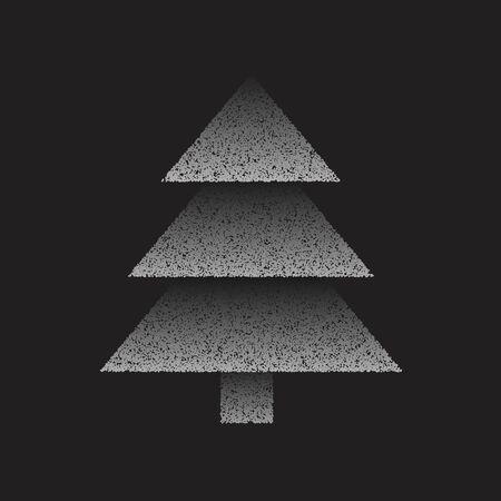 creative dots christmas tree design illustration