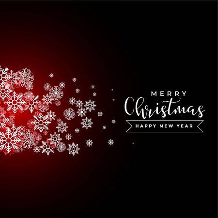 flying christmas snowflakes greeting for christmas