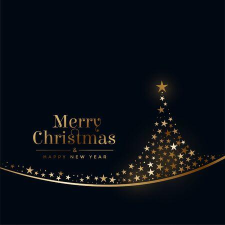 merry christmas creative tree made with stars