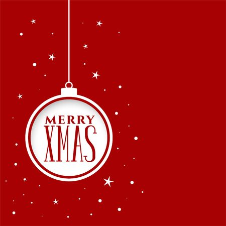 merry christmas festival holiday red background design