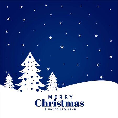 blue merry christmas festival greeting background design Иллюстрация