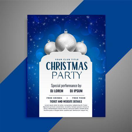 elegant invitation christmas flyer design template