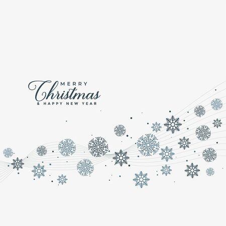 merry christmas snowflakes design background