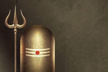 traditional hindu lord shiva shivling background design