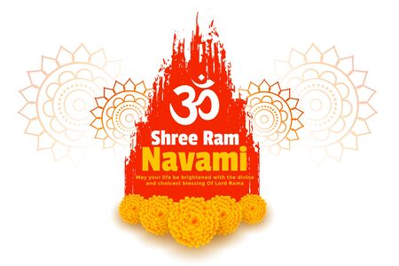 shre ram navami wishes celebration card design