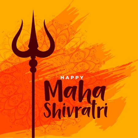 happy maha shivratri indian festival greeting background
