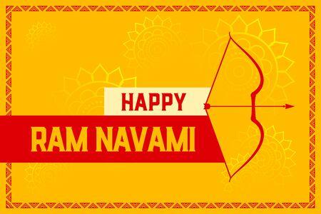happy ram navami yellow celebration festival card design